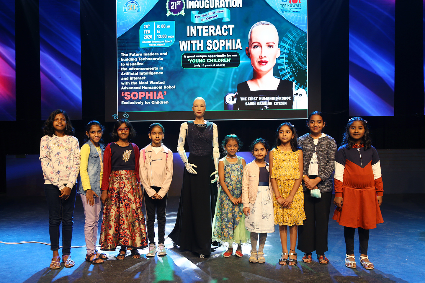 'Interact with SOPHIA', an Artificial Intelligence Workshop for children of all Indian Schools