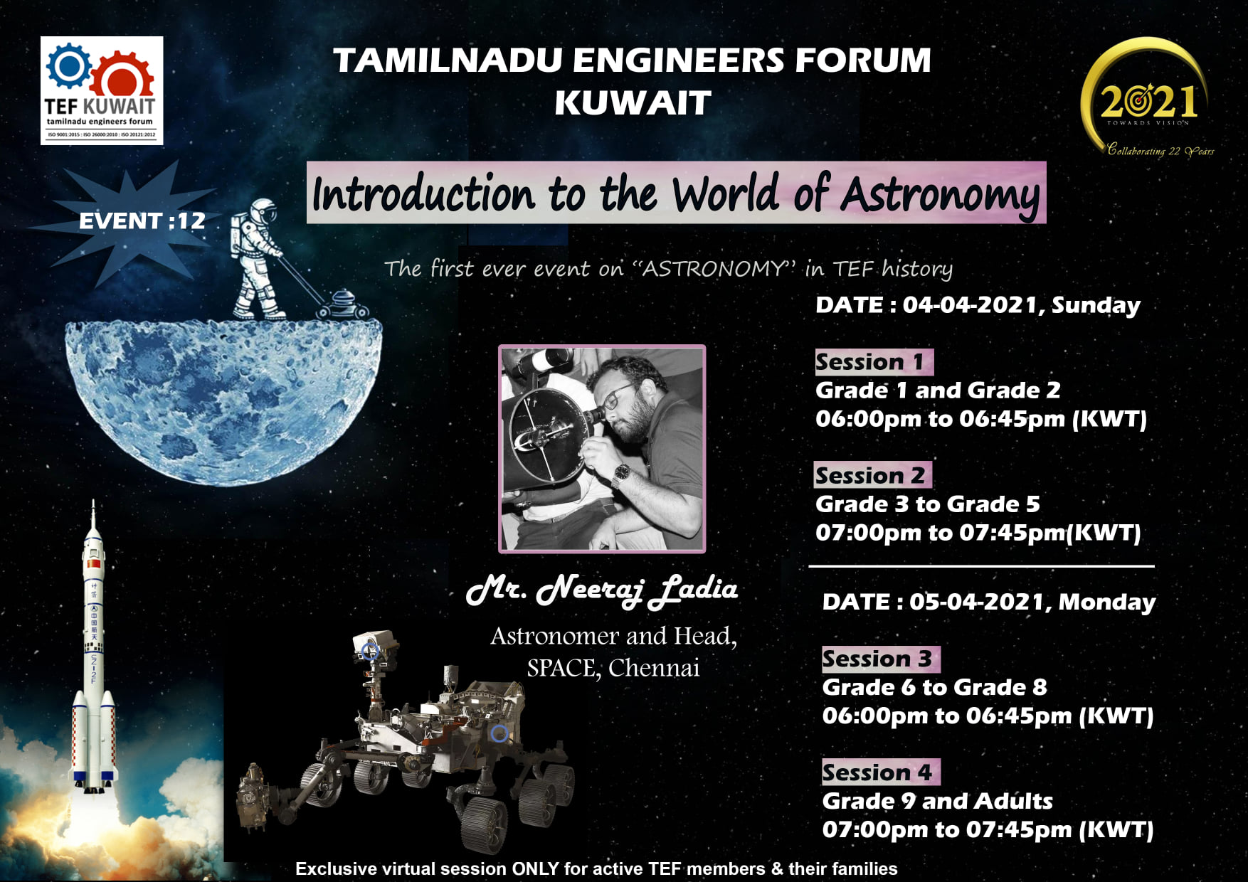 """1 - """"Introduction to the world of Astronomy"""""""