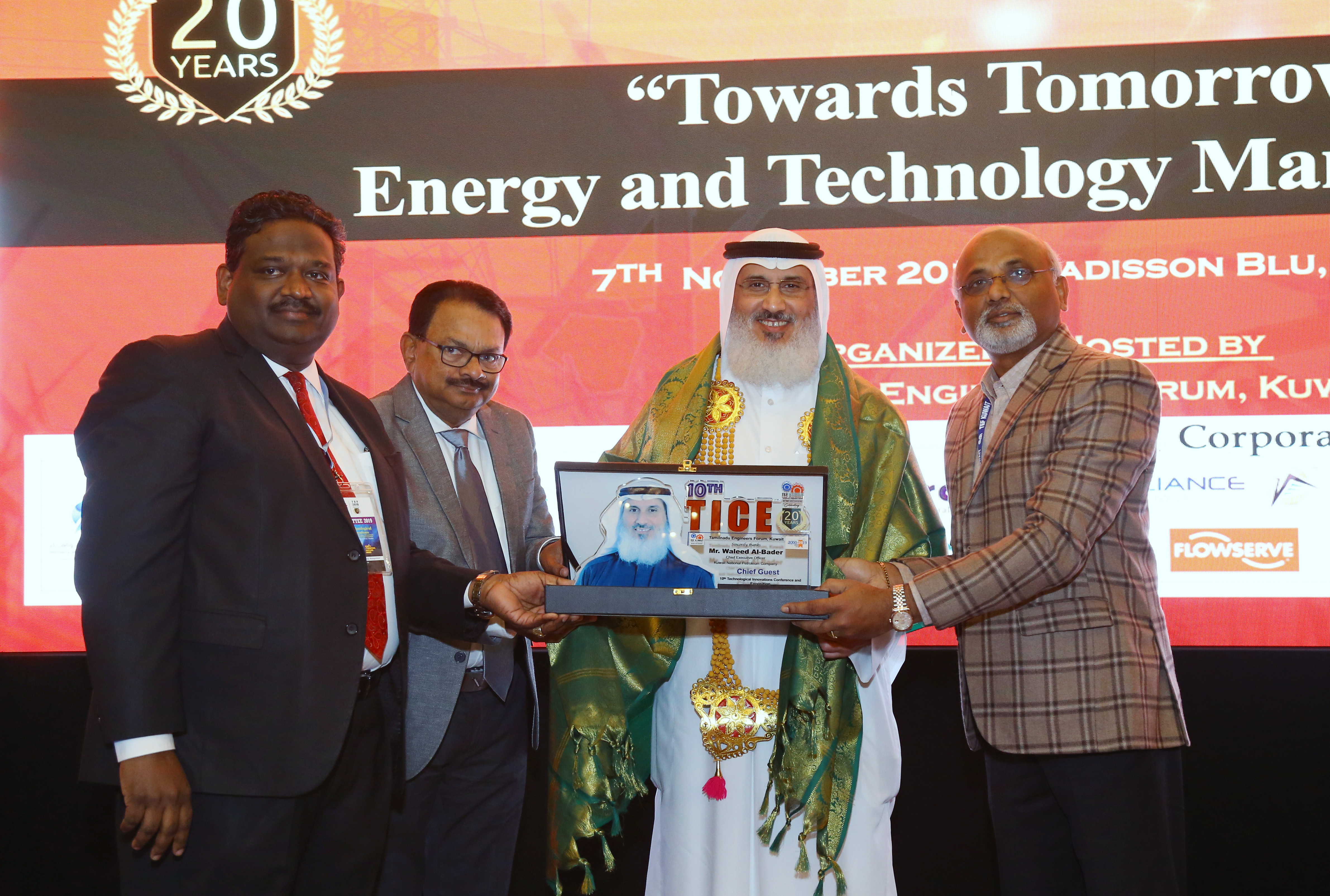 "Tamilnadu Engineers Forum (TEF) Kuwait organized the 10th Technological Innovations Conference and Exposition on 7th November 2019 at Radisson Blu Hotel, Kuwait with a Theme ""Towards Tomorrow: Energy & Technology Management"""