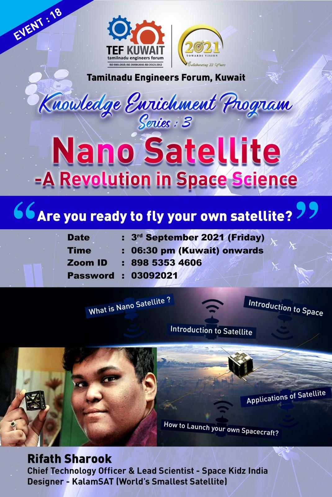 1 - 18 | Nano Satellite - A revolution in Space science