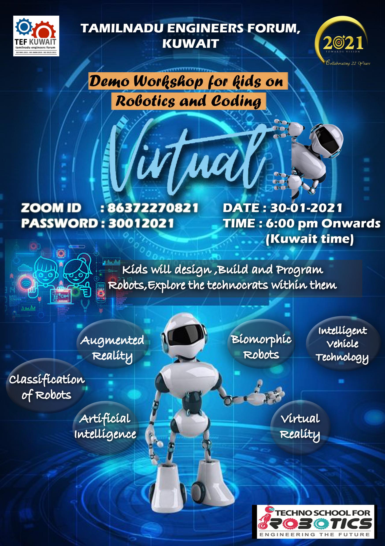 1 - Demo Workshop for Kids on Robotics and coding